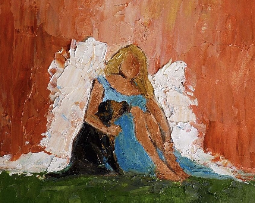 angel and dog