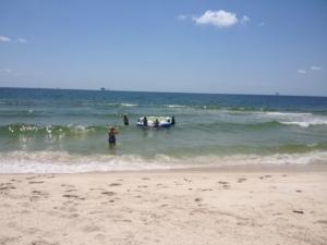 beach before Mom died