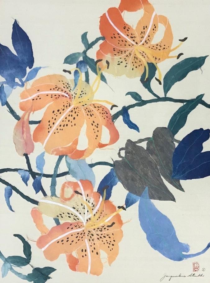 IMG_5412 (1) chigiri-e tiger lilies